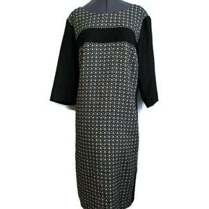 Boden Dress 18 L US Black Wool Blend Career shift
